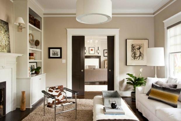 wohnzimmer farbe grau. Black Bedroom Furniture Sets. Home Design Ideas