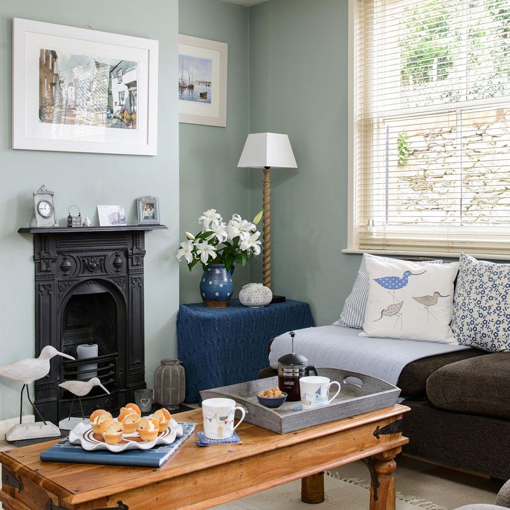 Idei bg for Duck egg blue living room designs