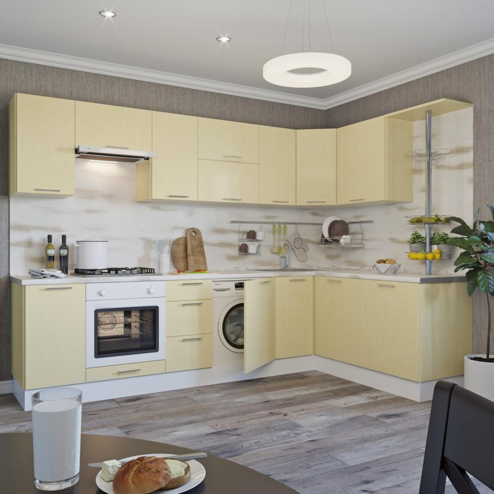Дизайн кухни ванильного цвета фото